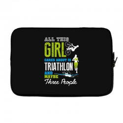 all this girl cares about is triathlon and maybe three people.  run sw Laptop sleeve | Artistshot