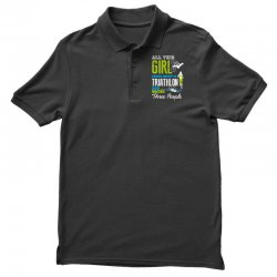 all this girl cares about is triathlon and maybe three people.  run sw Polo Shirt | Artistshot