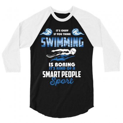 Swimming Life 3/4 Sleeve Shirt Designed By Wizarts