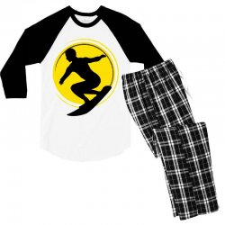 surfing girl Men's 3/4 Sleeve Pajama Set | Artistshot
