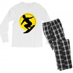 surfing girl Men's Long Sleeve Pajama Set | Artistshot