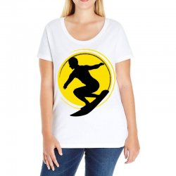 surfing girl Ladies Curvy T-Shirt | Artistshot