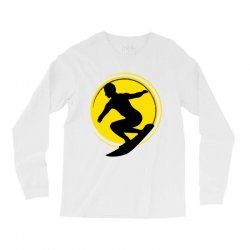 surfing girl Long Sleeve Shirts | Artistshot