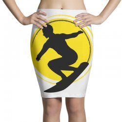 surfing girl Pencil Skirts | Artistshot