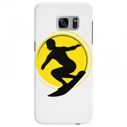 surfing girl Samsung Galaxy S7 Edge Case | Artistshot