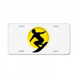 surfing girl License Plate | Artistshot
