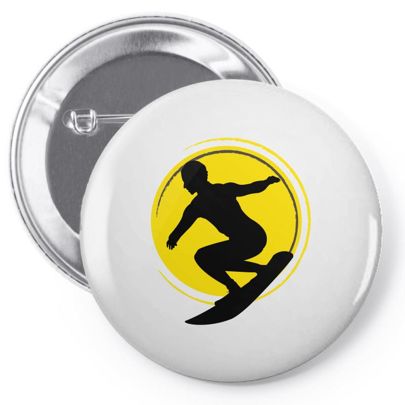 Surfing Girl Pin-back Button | Artistshot