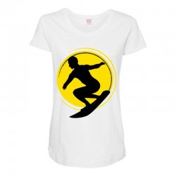surfing girl Maternity Scoop Neck T-shirt | Artistshot