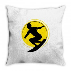 surfing girl Throw Pillow | Artistshot