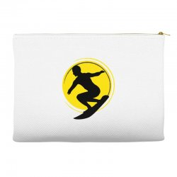 surfing girl Accessory Pouches | Artistshot