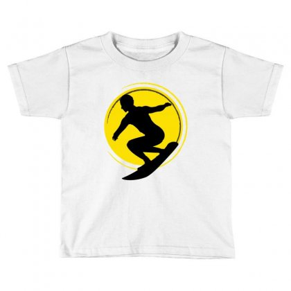 Surfing Girl Toddler T-shirt Designed By Wizarts