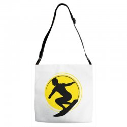 surfing girl Adjustable Strap Totes | Artistshot