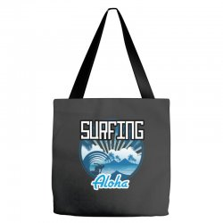 surfing aloha Tote Bags | Artistshot