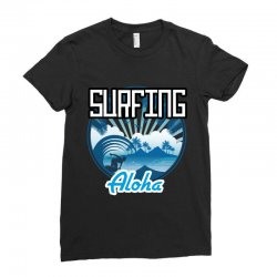 surfing aloha Ladies Fitted T-Shirt | Artistshot