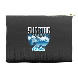 surfing aloha Accessory Pouches | Artistshot