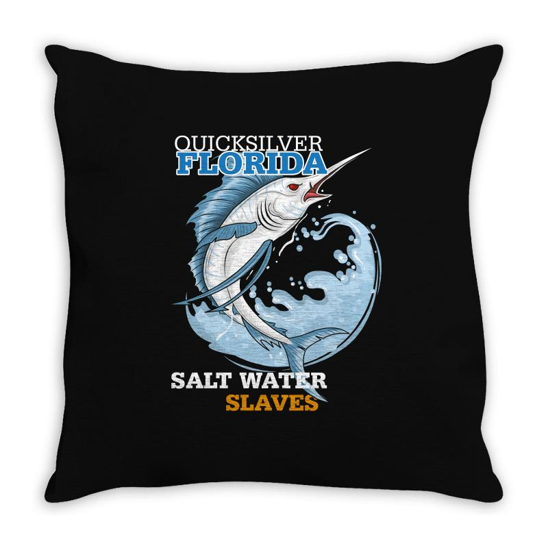 Quicksilver Florida Salt Water Slaves Throw Pillow | Artistshot