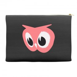 pink owl Accessory Pouches | Artistshot