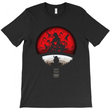 Red Moon Naruto T-shirt Designed By Ninabobo