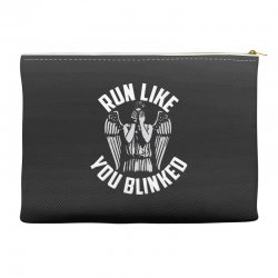 run like you blinked Accessory Pouches | Artistshot