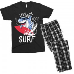 less work more surf Men's T-shirt Pajama Set | Artistshot