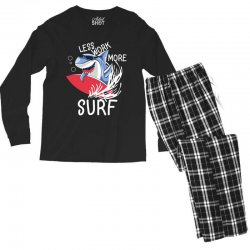 less work more surf Men's Long Sleeve Pajama Set | Artistshot