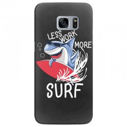 less work more surf Samsung Galaxy S7 Edge Case | Artistshot