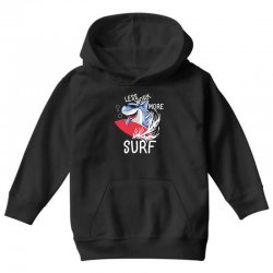 less work more surf Youth Hoodie | Artistshot