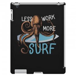 less work more surf iPad 3 and 4 Case | Artistshot