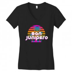 san junipero Women's V-Neck T-Shirt | Artistshot