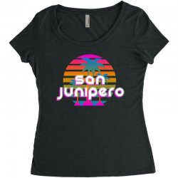 san junipero Women's Triblend Scoop T-shirt | Artistshot