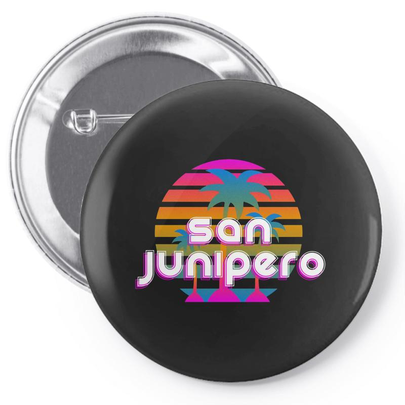 San Junipero Pin-back Button | Artistshot
