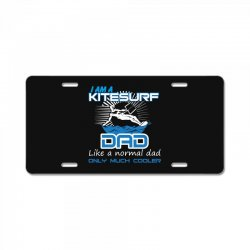 i am a kitesurf dad like a normal dad only much cooler License Plate | Artistshot