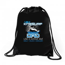 i am a kitesurf dad like a normal dad only much cooler Drawstring Bags | Artistshot