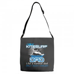 i am a kitesurf dad like a normal dad only much cooler Adjustable Strap Totes | Artistshot