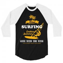 wind surfing endless summer gone with the wind the ultimate wave chall 3/4 Sleeve Shirt | Artistshot