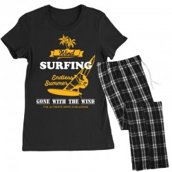 wind surfing endless summer gone with the wind the ultimate wave chall Women's Pajamas Set | Artistshot