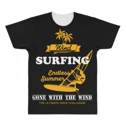 wind surfing endless summer gone with the wind the ultimate wave chall All Over Men's T-shirt | Artistshot