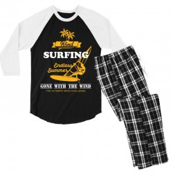 wind surfing endless summer gone with the wind the ultimate wave chall Men's 3/4 Sleeve Pajama Set | Artistshot