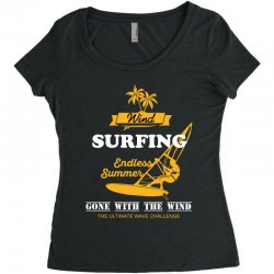 wind surfing endless summer gone with the wind the ultimate wave chall Women's Triblend Scoop T-shirt | Artistshot