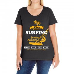 wind surfing endless summer gone with the wind the ultimate wave chall Ladies Curvy T-Shirt | Artistshot