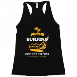 wind surfing endless summer gone with the wind the ultimate wave chall Racerback Tank | Artistshot