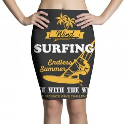 wind surfing endless summer gone with the wind the ultimate wave chall Pencil Skirts | Artistshot