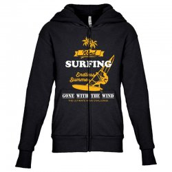 wind surfing endless summer gone with the wind the ultimate wave chall Youth Zipper Hoodie | Artistshot