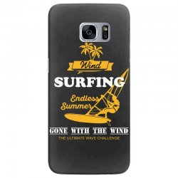 wind surfing endless summer gone with the wind the ultimate wave chall Samsung Galaxy S7 Edge Case | Artistshot