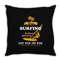 wind surfing endless summer gone with the wind the ultimate wave chall Throw Pillow | Artistshot