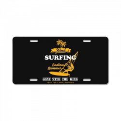wind surfing endless summer gone with the wind the ultimate wave chall License Plate | Artistshot