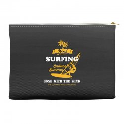 wind surfing endless summer gone with the wind the ultimate wave chall Accessory Pouches | Artistshot