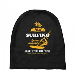 wind surfing endless summer gone with the wind the ultimate wave chall Baby Beanies | Artistshot