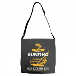 wind surfing endless summer gone with the wind the ultimate wave chall Adjustable Strap Totes | Artistshot
