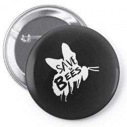 save the bees Pin-back button   Artistshot
